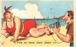 themes div -ref M125- humour - dessin illustrateur - appareil photo - bord de mer -carte bon etat -
