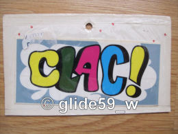 """Autocollant """"CLAC !"""" (Plastic Screen - Italy) (an. 70) - Stickers"""