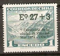 CHILI    -  1974.   Y&T N° 414 **.  Surchargé - Chile