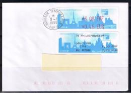 ATM, LISA1, Philexfrance, 9/07/1999, E 3.00FRF/0.46EUR, MOG 1.50/0.23 AVEC Oblitération Du Bureau De Salon. - Marcofilia (sobres)