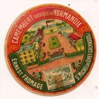 ETIQUETTE DE FROMAGE  CAMEMBERT Normandie  ST MICHEL DE LIVET CALVADOS ERNEST - Fromage