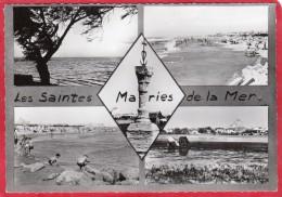 CPSM 13 SAINTES MARIES DE LA MER  Les  Multivues Vues  * Format CPM - Saintes Maries De La Mer