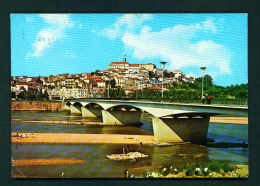 PORTUGAL  -  Coimbra  St Clara Bridge And University  Used Postcard - Coimbra