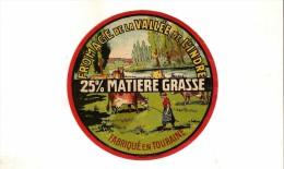 ETIQUETTE DE FROMAGE  DE LA VALLEE DE L INDRE TOURAINE - Cheese