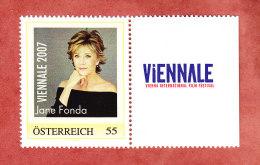 Personalisierte Marke, Oesterreich, Viennale 2007 Mit Zierfeld, Jane Fonda, Ungebraucht (28156) - Cinema