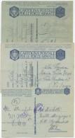 POSTA MILITARE 2^ G.M.: 3 CARTOLINE IN FRANCHIGIA CON DIFFERENTI FRASI DI MUSSOLINI USATE OTTIMA QUALITÀ (6710) - 1900-44 Vittorio Emanuele III