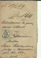 CROATIA  --  VARAZDIN   --  KRALJ. SUDBENI STOL  --  1879  --  TIMBRE FISCAL, TAX STAMP - Historical Documents