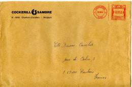 EMA Usine,industrie,société Sidérurgique Et Charbonière,Cockerill Sambre,Charleroi,Belgique,lettre Obliterée 10.8.1984 - Fábricas Y Industrias