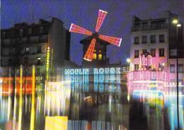 SPECTACLES Shows - CABARET Kabarett (Petit Lot N° 4) De 2 CPSM CPM GF - LE MOULIN ROUGE - 82 Bld De Clichy PARIS 18 ème - Cabaret
