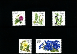 IRELAND/EIRE - 2005  FLOWERS  SET  MINT NH - 1949-... Repubblica D'Irlanda