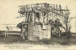 Sector Portuguez - Zôna Devastada - Abrigo Na Estrada Para Calonne - Guerra 1914-18