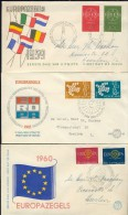 BL6-184 NETHERLANDS 1959-1990 EUROPE CEPT 29 FDC'S. WITH AND WITHOUT ADDRESS. - Postzegels