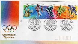 Australie 2000  Fdc Séries Jeux Olympiques De Sydney Bande De Timbres Se Tenant - Sommer 2000: Sydney - Paralympics