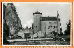PBX-07  La Porte Du Scex Valais, Troupeau De Vaches. Cachet Militaire En 1944 - VS Valais