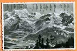 PBX-14 Panorama Chablais Valaisan, Champéry, Morgins, St Maurice, Monthey, Collombey. Cachet Militaire 1944 - VS Valais