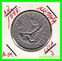 ALEMANIA  - BRD  - MONEDA DE 10 DM  PLATA  S/C  AÑO 1998-J PROOF - [10] Conmemorativas