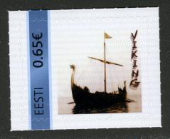 RARE !!! ESTONIA ESTLAND My Stamp Meine Marke Personalisierte Briefmarke Viking Longship 2016 MNH - Estland
