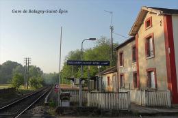 Gare De Balagny-Saint-Épin , Département De L´Oise - Une Photo Reproduit Carte Postale  10x15 Cm. - Estaciones Sin Trenes