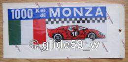 Autocollant 1000 Km Di MONZA (Plastic Screen - Italy) (an. 70) - Stickers