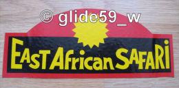 "Autocollant ""EAST AFRICAN SAFARI"" (années 70) - Stickers"