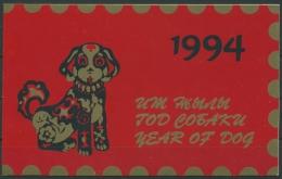 Kirgisien 1994 Chin. Neujahr Jahr Des Hundes 21 A MH Postfrisch (D8864) - Kirgizië