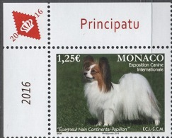 MONACO 2016/ Y.T. N° 3021  - EXPOSITION CANINE INTERNATIONALE - NEUF** - Monaco