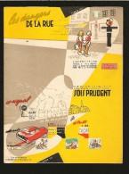 """PROTÈGE CAHIER A SYSTEME  """" LES DANGERS DE LA RUE """"  Code De La Route De L'écolier ,LAGARDE TEINTURIER En NORMANDIE - Kids"""