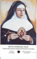 Reliquia Della Beata Barbara Maix,  Santino Pieghevole  Con Preghiera - Religion & Esotérisme