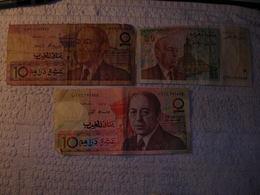 Billet 20 & 10 Dirhams - Bank Al-Maghrib - Maroc - Maroc