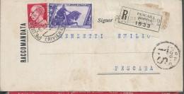 Registered Letter Court Pescara, Riviera 1934. Stamp Horse Statue.Einschreiben Pescara 1934 Riviera Gericht. 2 Sca - 1900-44 Victor Emmanuel III.