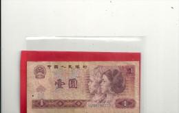 - CHINA - PEOPLES REPUBLIC - ZHONGGUO RENMIN YINHANG -- 1 YUAN - ISSUE 1980- TRACES DE ¨PLI - Chine