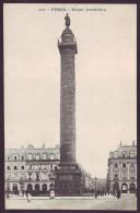 PARIS - La Place Vendôme Et La Colonne (Unused Old Postcard - Non Voyagée CPA) - Monuments