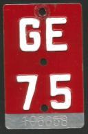 Velonummer Genf Genève GE 75 - Number Plates