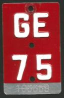 Velonummer Genf Genève GE 75 - Plaques D'immatriculation