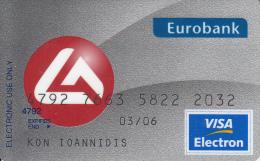 GREECE - Eurobank Visa(801 11 1144), Used - Carte Di Credito (scadenza Min. 10 Anni)