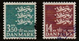 DINAMARCA. Yvert Nsº 756/57 Usados - Dinamarca