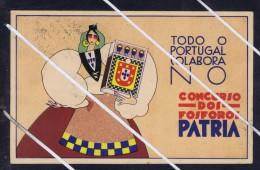 Patria - TODO O PORTUGAL COLABORA NO CONCURSO DOS FOSFOROS 1936 Publicitary Postcard Portugal 5697 - Portugal