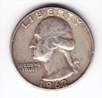 1962 USA 25 Cent Coin - 1932-1998: Washington