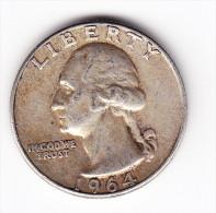 1964 USA 25 Cent Coin - 1932-1998: Washington