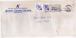 Yugoslavia,Croatia,Zagreb.letter.used Paar Stamps - European Athletics Championships,Split - 1945-1992 République Fédérative Populaire De Yougoslavie