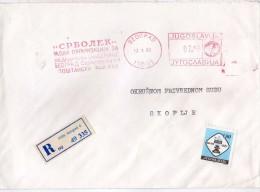 Yugoslavia,Serbia Belgrade Registered Letter. Stamp Chess 1990 - Pharmaceutics-EMA FREISTEMPEL AFFRANCATURA ROSSA - 1945-1992 Repubblica Socialista Federale Di Jugoslavia