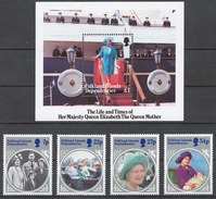 Falkland Islands Dependencies 133-36+ Bl.2** QUEEN MOTHER 85th BIRTHDAY - Südgeorgien