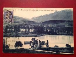 73 Savoie Cpa YENNE Les Environs MARNIX Le Rhone Et La Dent Du Chat + Cad VIRIGNIEU - Yenne