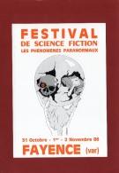 VA 83 FAYENCE SERIE DE 8 CPM POUR LE FESTIVAL DE SCIENCE FICTION EN 1986 PHENOMENES PARANORMAUX - Fayence