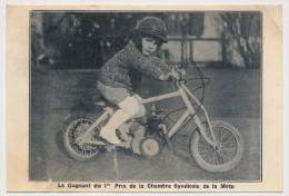CPSM - BRUNOY (S Et O) - Le Gagnant Du 1er Prix De La Chambre Syndicale Moto - Vélos De Gervaise, La Pyramide à Brunoy - Brunoy