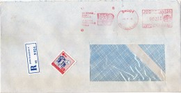 Yugoslavia Serbia Kraguevac Registered Letter. Stamp 1990 - Auto Industry - METER MARK EMA FREISTEMPEL - 1945-1992 République Fédérative Populaire De Yougoslavie