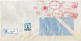 Yugoslavia Serbia Becej Registered Letter. Stamp 1990 - Trucks Industry - METER MARK EMA FREISTEMPEL - 1945-1992 République Fédérative Populaire De Yougoslavie