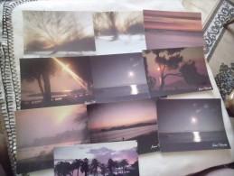 LOT DE 10 CARTES PAYSAGES ..COUCHERS DE SOLEIL...SIGNE JACQUES DHIMOLEA - Cartes Postales