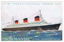 Cie  Générale  Transatlantique    Le Normandie - Piroscafi
