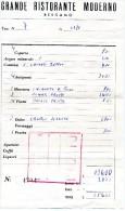 Facture: GRANDE RISTORANTE MODERNO - BERGAMO - Italie